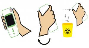 Traiter la microcuvette à usage unique de l'appareil de mesure INR LabPad®